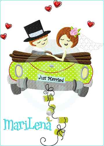 ♥ Just Married ♥ Appli 13x18