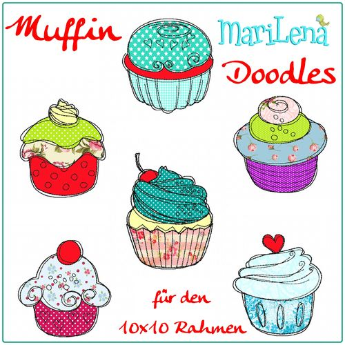Set Muffin Doodles Appli 10x10