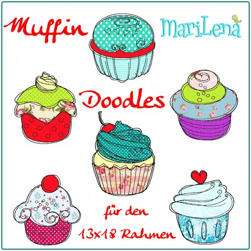 Set Muffin Doodles Appli 13x18