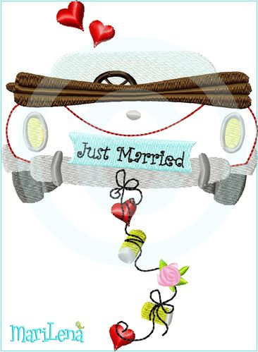 Cabrio Just Married  Appli 13x18