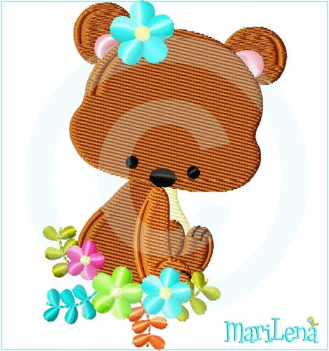 ♥ SpringTeddy ♥ Filled 4x4""