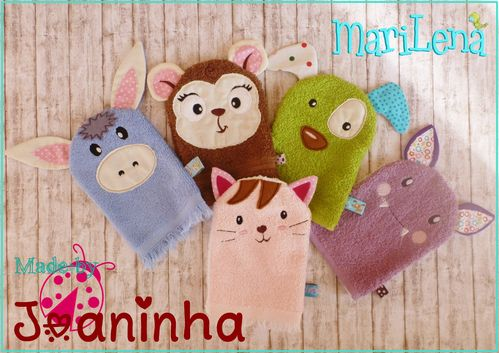 WashclothSet animals 1 ITH