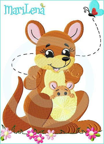 ♥ Mom&Me Kangaroo  ♥ Filled 5x7""