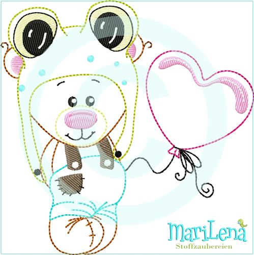 ♥ Frogbear in Love ♥ Appli 13x18