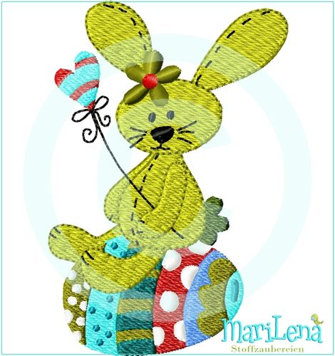 ♥ Easter Bunny ♥ Filled 4x4""