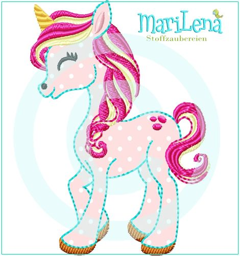 ♥ Einhorn Splash  ♥ Appli 10x10