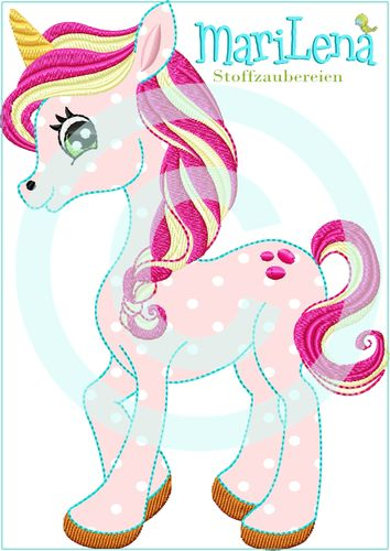 ♥ Einhorn Splash ♥ Appli 13x18