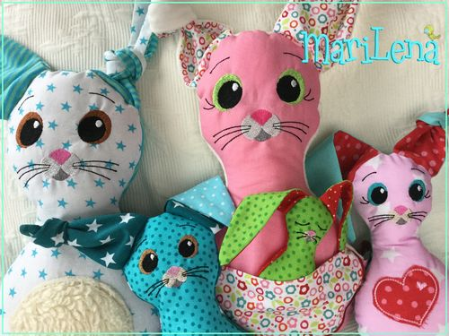 ♥ Bunny Familie SchlappOhr ♥  ITH 18x30