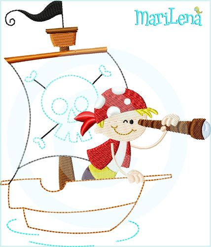 ♥ Sticky Pirate ♥ Appli 13x18