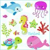 Set ♥ Sealife  ♥ Füll 10x10