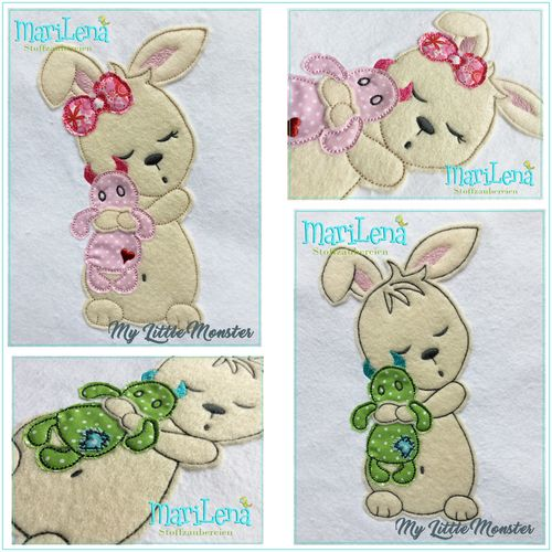 ♥ MyLittleMonster  ♥  Applique 7x12""