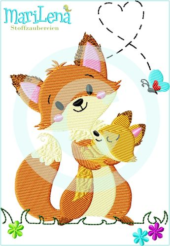 ♥ Mom&Me Foxy ♥ Filled 5x7""