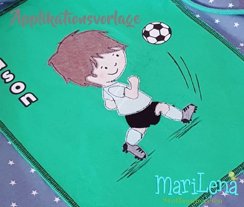 Footballer Soccer Player Appliqué Pattern