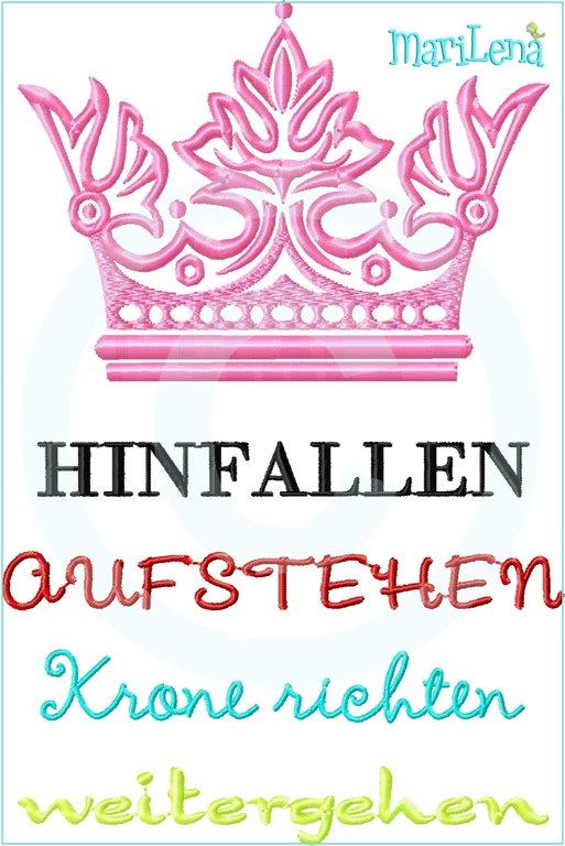 Spruch Krone Richten 13x18 Marilena Stoffzaubereien