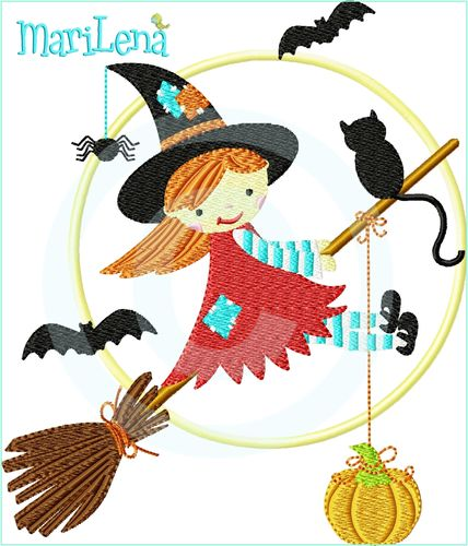 ♥ Lil`Witch ♥ Filled 5x7""