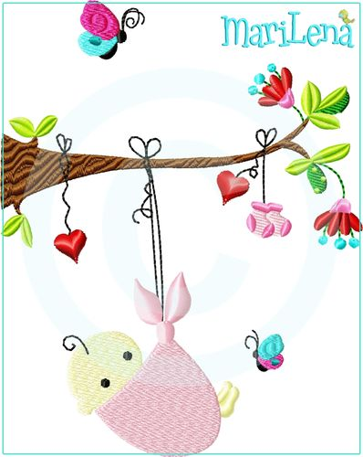 ♥ Swinging Baby  ♥ Filled 5x7""