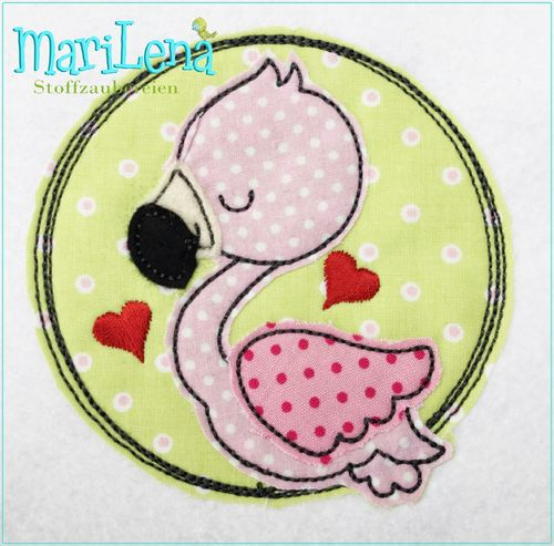 Flamingo  DoodleButton Appli 10x10