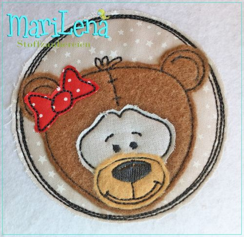 Bear DoodleButton Appli 10x10