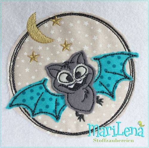 Fledermaus DoodleButton Appli 10x10