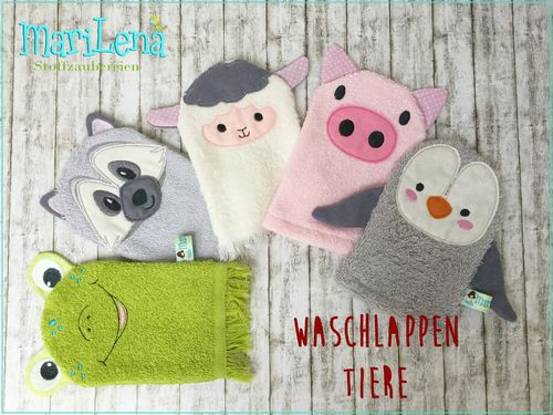WashclothSet animals 3 ITH