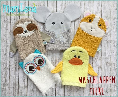 WashclothSet animals 4 ITH