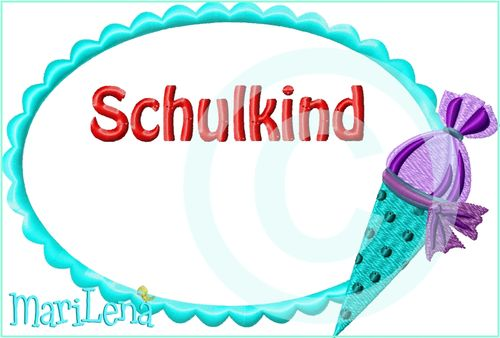 ♥ Schulkind Button 1 ♥ Appli 13x18