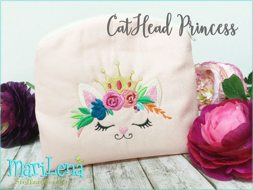 ♥ CatHead Princess ♥ Filled 4x4""