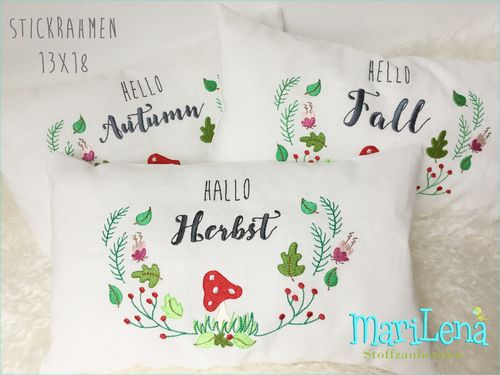 HELLO FALL Mushroom SET saying