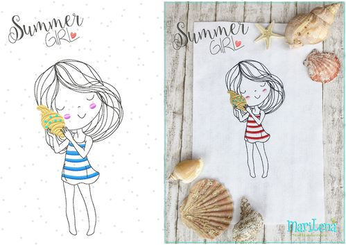 SummerGirl redwork design