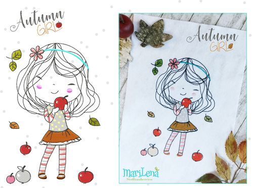 AutumnGirl redwork design