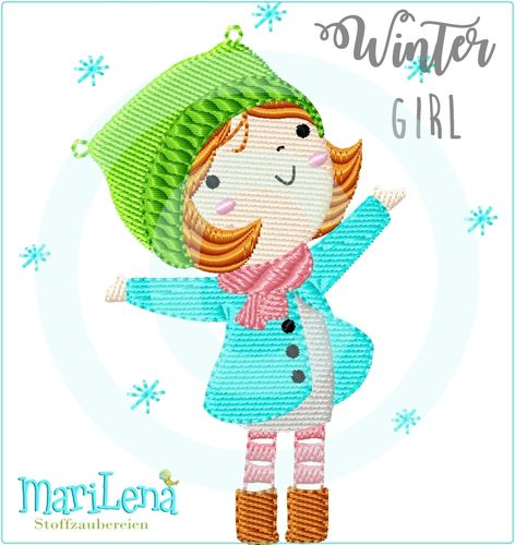 WinterGirl filled design