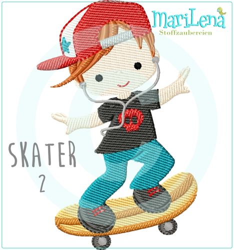 Skater 2 filled design