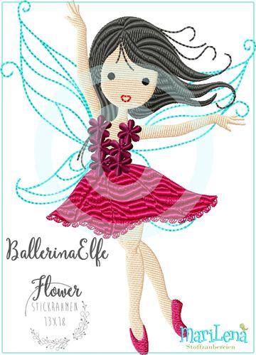 BallerinaFairy Flower filled design