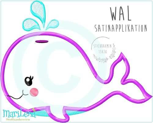 Wal Satin Applikation