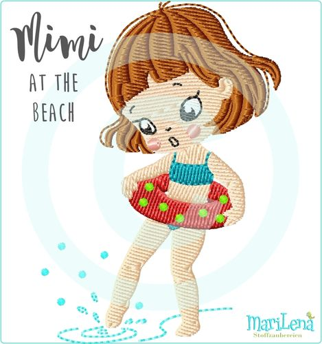 MIMI at the beach filled design